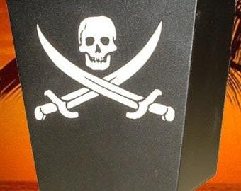 Engraved Pirate Wall Mount Cap Catcher - Tiki Kev
