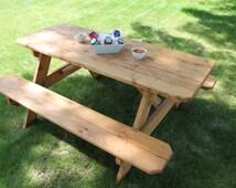 Cedar Picnic Table - Pic-A-Nick Table