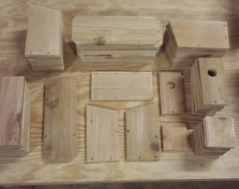 Build Your Own Bluebird Houses - Kit to Assemble 20 Bird Houses - Great for Scout or Summer Camps or Kids Party Activity- Free Shipping