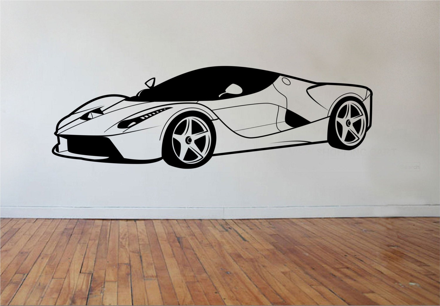 sports car wall decal version 2 vinyl sticker art decor. Black Bedroom Furniture Sets. Home Design Ideas