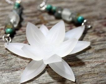 Acrylic jewelry, acrylic jewellery, art necklace, acrylic necklace, acrylic necklaces, chunky white,bold necklace, sea glass, wedding