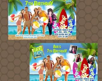 Teen Beach Movie Birthday Party Invitations Printable Uprint Digital Printed Options * 7 Designs * READ DESCRIPTION*