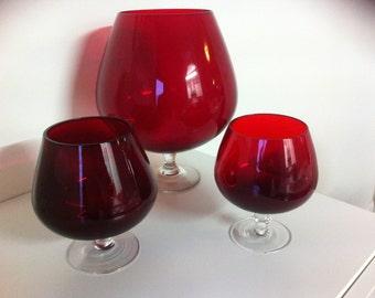 Red Brandy snifter / bowls