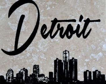 Detroit Skyline Coasters