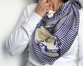 VANITAS - FOULARD di SETA - design Gianfranco Setzu - carré di seta / sciarpa / fazzoletto / fusciacca / chador / hijab / shawl / headscarf