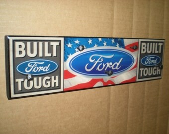Ford key holder, Ford wall hook, key holder, Ford Sign, Ford gift, key hook, wall hook, Ford key rack, Dad Gift / Boyfriend gift