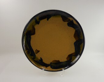 Martz Marshall Studio Earthtone Pottery Plate - Signed Art Studio Pottery