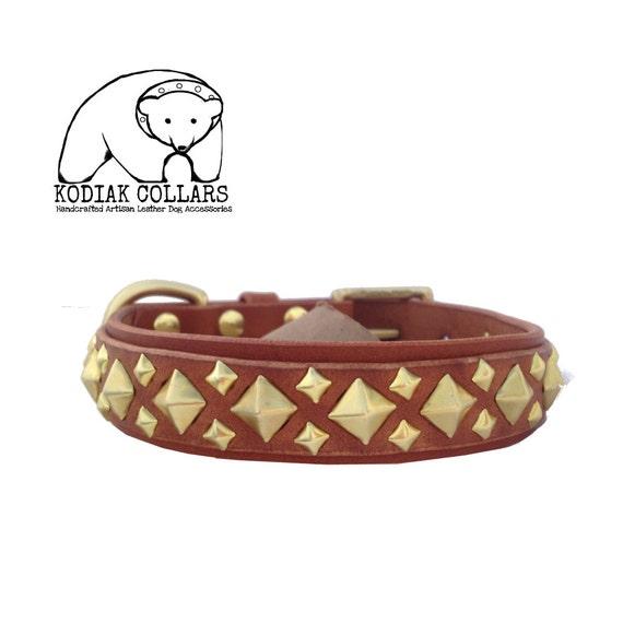 Bentley Dog Collar: Items Similar To The Bentley A Handmade Leather Dog Collar