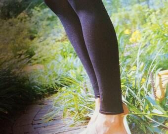Classic Plain Black Italian Dancewear Silky Shiny Hosiery Leggings Yoga Leggings With Lycra and poliamide Joanna Trojer Italian Designer