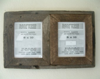 Rustic Barn Wood Picture Frame, 8 X 10 Collage, Very Rustic, Very Old Wood