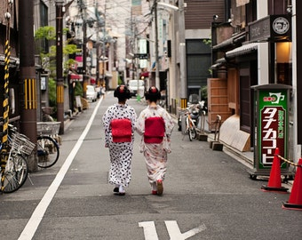 Two Maiko in Kyoto Standout Print