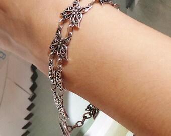 Silver Butterfly Bracelet