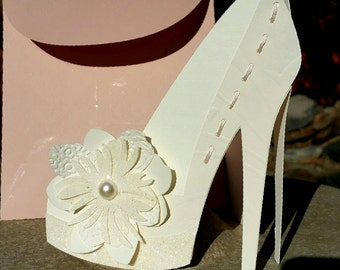 Bridal Shoe Card