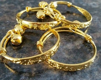 Baby girl bangles newborn bracelets gold Baby jewelry