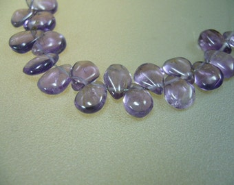 Natural Amethyst Tiny Smooth Briolettes Earrings Set of 9