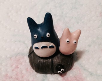 My Neighbor Totoro Miniature Collectable! Vintage, cute, kawaii! 3 PIECES! SALE!