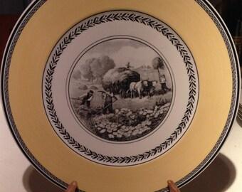 Villroy and Boch 30cm serving plate in Audun Ferme pattern