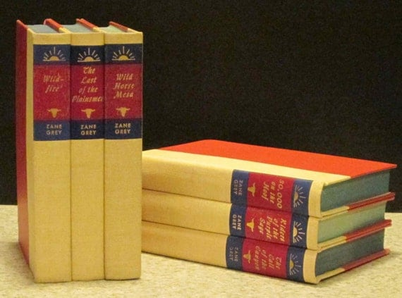 Zane Grey Bookends Gifts For Book Lovers Stacked By