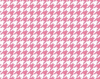 Pink and White Houndstooth by Riley Blake Designs