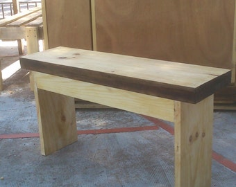 wide black bench 80cm
