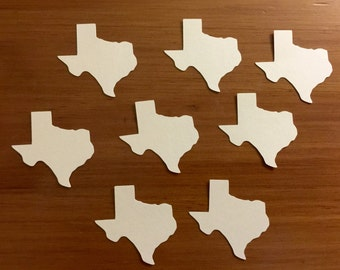 Piece of Home State Confetti - California, Texas, Ohio, New York, Florida, Louisiana in Gold or Ivory