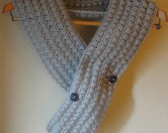 Puff Crochet Scarf