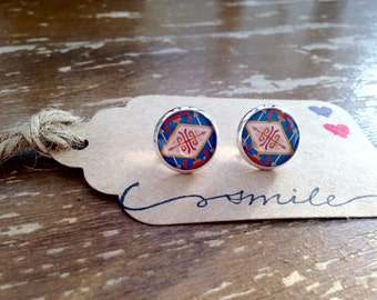 Diamond Tribal post earrings