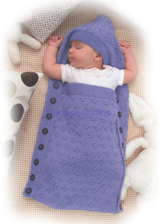 Knitting Pattern Sleeping Bag Baby : baby sleeping bag knitting pattern 99p