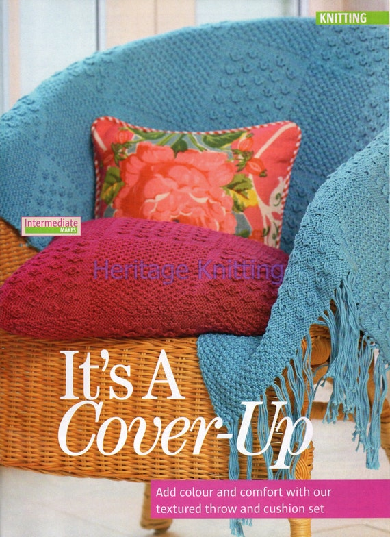 Knitting Patterns For Cushions And Throws : throw and cushion dk knitting pattern 99p