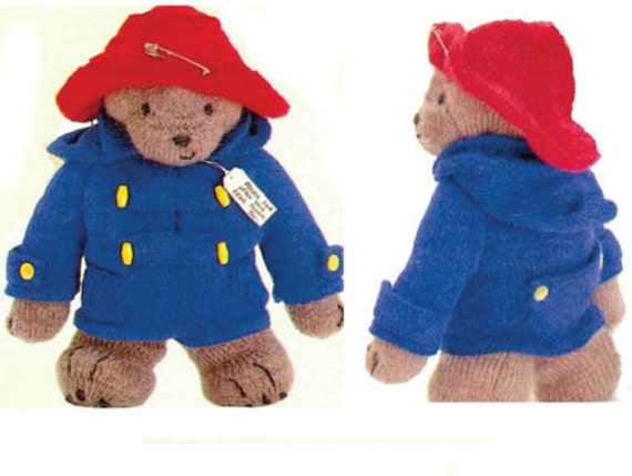 paddington bear toy dk knitting pattern 99p by Heritageknitting1