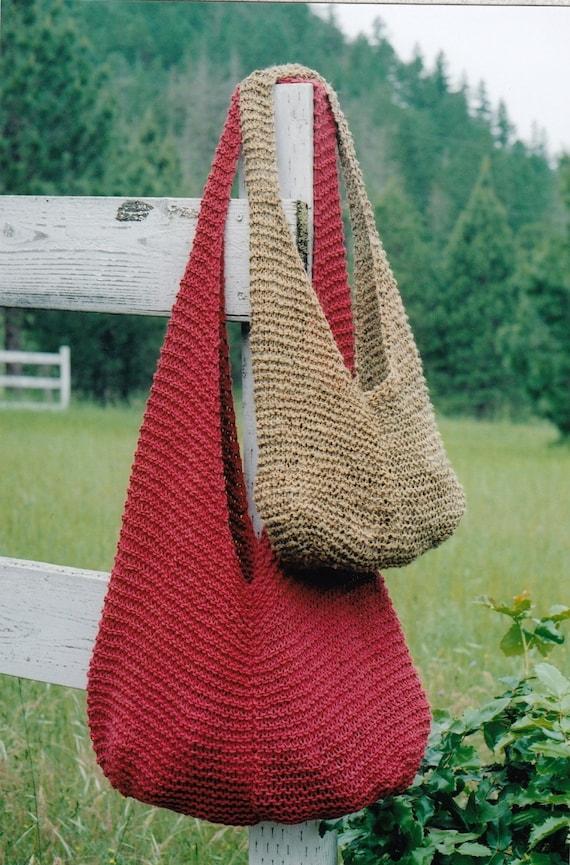 Free Knitting Pattern Small Bag : Shoulder Bag Knitting Pattern - Blue Crossbody Bag