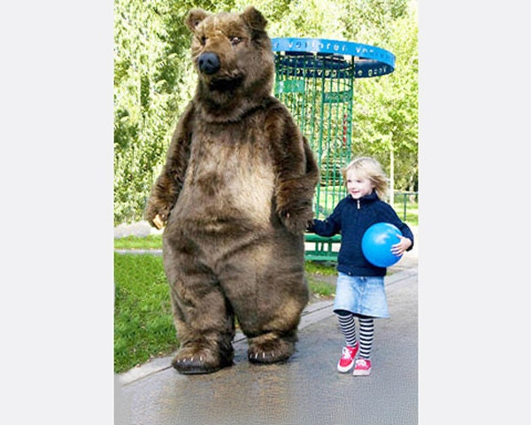 Realistic Grizzly Bear Animal costume. ADULT by TentacleStudio - photo#44