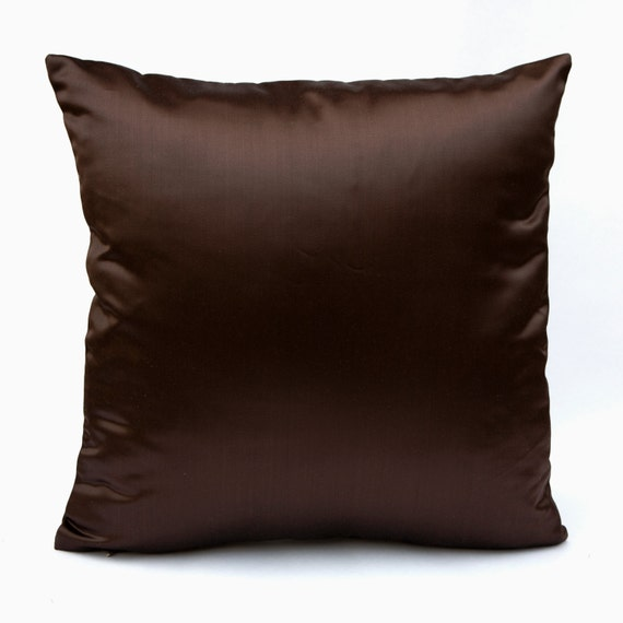 Decorative Pillow Brown : Dark Brown Pillow Throw Pillow Cover Decorative Pillow