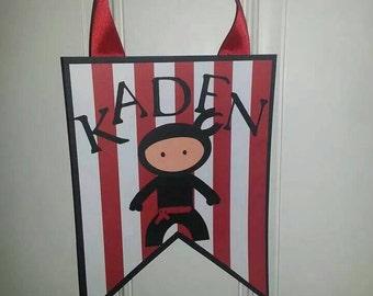 Ninja Birthday Door Sign