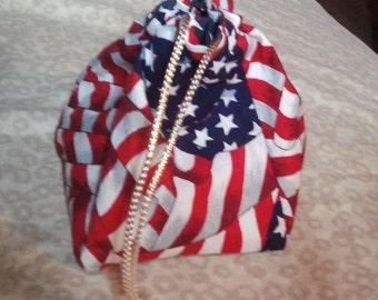 Reversable Patriotic Draw Pouch Dice bag