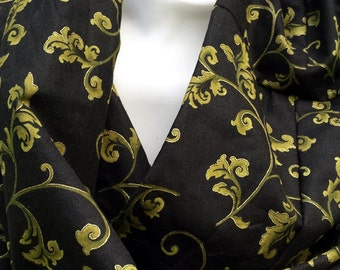 Infinity scarf #41--buy 3, pay shipping for 1 (save 12.20)--use coupon code shipfee610at checkout. Black and gold.