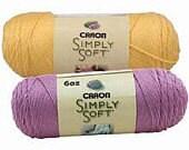 Yarn - Caron Simply Soft -  Lemonade, Autumn Red, or Charcoal Heather