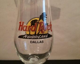 Hard Rock Cafe Hurricane Glass Dallas