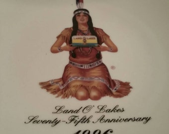 Land O Lakes Butter Plate Indian