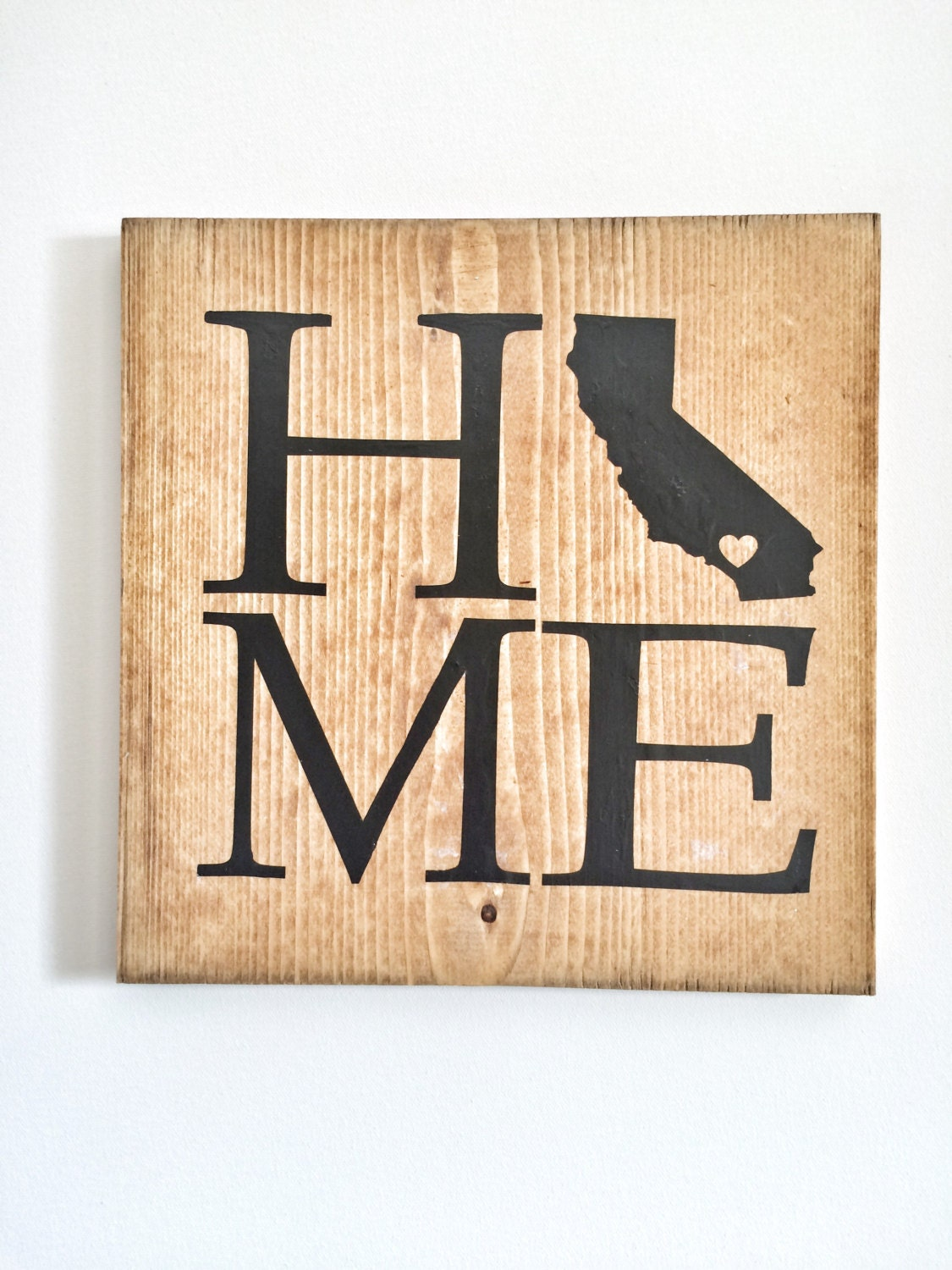 Personalized Wood Art, Custom Home California State Love (OR ANY ...