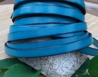 Ultramarine flat leather 10mm by 20cm