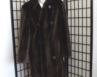 Brand new brown sheared beaver fur jacket coat  for men man size all custom made