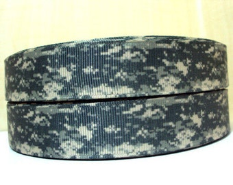 7/8 inch Camouflage (style 1020) Camo - Printed Grosgrain Ribbon for Hair Bow