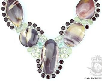 Large Size! Excellent PatternAAA Graded AUSTRALIAN MOOKAITE JASPER 925 Solid Sterling Silver Necklace n326