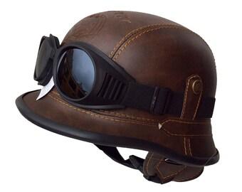 Chopper Helmet Bulzeye Motorcycle BROWN size.S Harley Trike with glasses