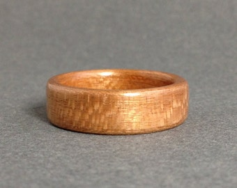 Flaky Cherry Bentwood Ring