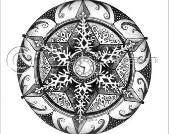 Snow Time Mandala