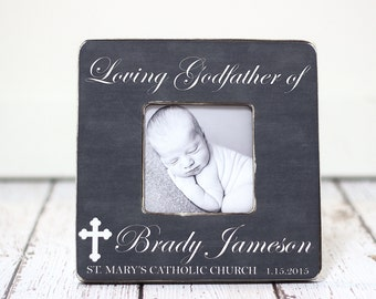Godfather Gift Godmother Gift Godparents Gift Personalized Picture Frame for Baptism