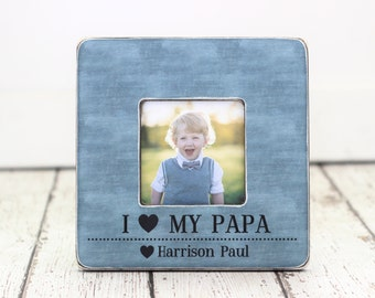 Dad Picture Frame Gift Grandpa Grandfather Papa Pop Personalized Picture Frame