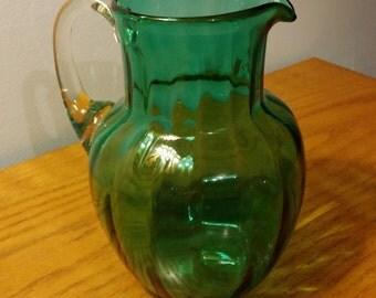 Hand Blown Green Vase
